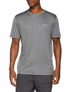 Marmot Windridge Short Sleeve T-Shirt Manche Courte, Chemise de randonnée, idéal pour Le Sport, la Gym, séchage Rapide, Respirant Homme, Cinder, FR (Taille Fabricant : XL)