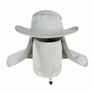 OhhGo Chapeau de Pêche de Protection UV Extérieure Chapeau de Camping avec Rabat de Cou