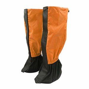 puran 1 paire de jambières d'extérieur pour randonnée, escalade, protection contre le sable et la neige – Orange