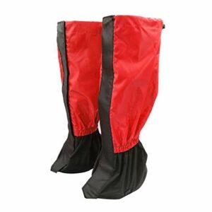 puran 1 paire de jambières d'extérieur pour randonnée, escalade, protection contre le sable et la neige – Rouge