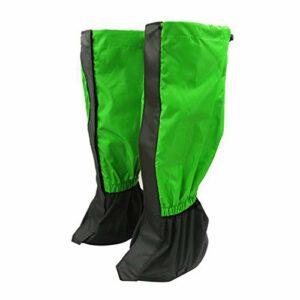 puran 1 paire de jambières d'extérieur pour randonnée, escalade, protection contre le sable et la neige – Vert fruits