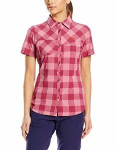 Salewa Puez Dry W S/s SRT Chemise de randonnée/pédestre Femme, Chess Red Onion, FR : M (Taille Fabricant : 44/38)