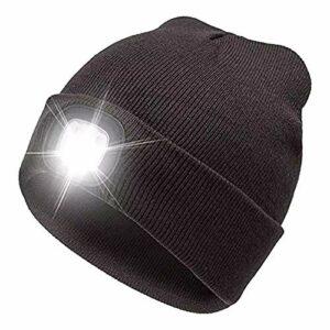 WangSH 4 LED Casquette Casquette Sonneaux Chauds Mains Pêche Free Bonnet Bonnet Chapeau Flash Phare de Camping Bouton Type de Batterie Type de Batterie