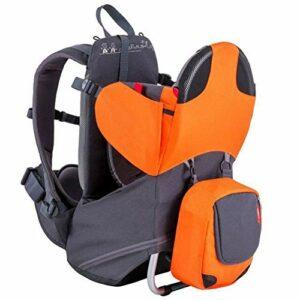 Xbnmw Sac à Dos Porte-bébé, Porte-bébé de Camping, Contient jusqu'à 40 Livres, pour Les Enfants de 6 Mois à 3 Ans,Orange