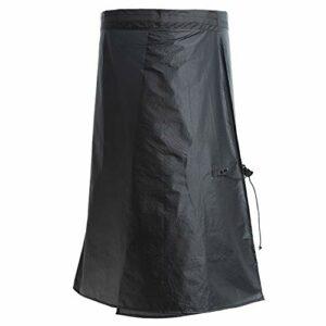 YANYODO Rain Kilt Rain Jupe Cyclisme Camping Randonnée Pantalons de Pluie Léger et Imperméable Jupe Pluie Rainwear Pantalon de Pluie imperméable pour Hommes/Dames