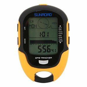 01 Boussole de mètre d'altitude de GPS, altimètre électronique de GPS de Batterie Rechargeable intégrée, étanche pour Le Camping en Plein air