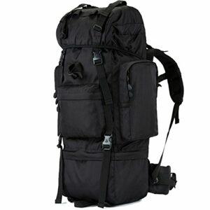 Backpack 100L Sac d'alpinisme en Plein air, Hommes et Femmes Sac à Dos Sac de Voyage, Sac à Dos de Voyage de Montagne Tactique de Grande capacité ZDDAB