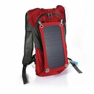 Bazaar Camping en plein air sac à dos solaire randonnée sac solaire 6.5W panneau solaire avec le sac de l'eau 2.5l