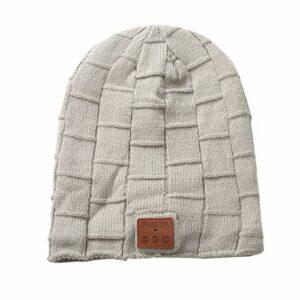 Bonnet Bluetooth, Casque sans Fil Haut-Parleur De Musique d'hiver Bonnet De Course en Tricot avec Haut-parleurs Stéréo, pour Le Ski Randonnée Camping (C)