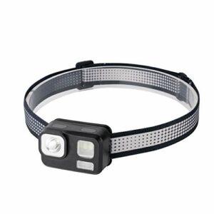 C/N Lampe frontale LED étanche et légère pour la pêche, le camping, la randonnée, l'escalade (Noir)