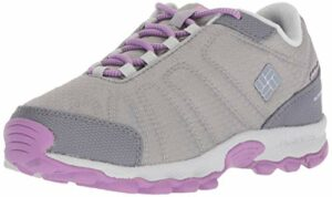 Columbia Fille Chaussures de Randonnée, Imperméable, YOUTH FIRECAMP SLEDDER II WP, Taille 33, Gris (Steam, Phantom Purple)