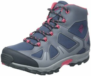 Columbia Fille Chaussures de Randonnée, Imperméable, YOUTH PEAKFREAK XCRSN MID WP, Taille 37, Bleu (Mountain, Camellia Rose)