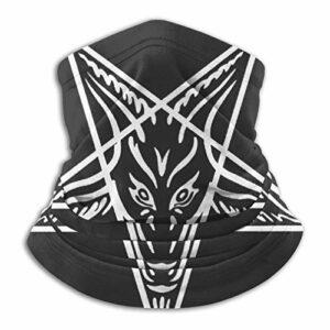 Custom made Cache-cou unisexe avec logo Satanism en microfibre, multifonctionnel, résistant à la poussière, passe-montagne, bandanas, écharpe pour sports de plein air par temps froid
