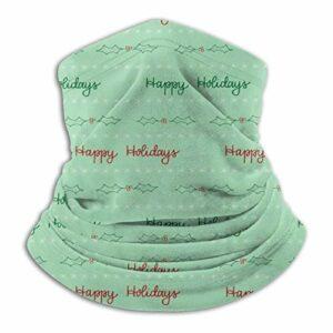 Custom made Happy Holidays Cache-cou unisexe en microfibre résistant à la poussière, passe-montagne, bandanas, écharpe pour sports de plein air par temps froid