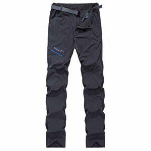 Ddl Pantalon de randonnée Extensible en Plein air Printemps et en été de Nouvelles randonnée imperméables à l'eau Un Pantalon Respirant à séchage Rapide Pantalons de Camping Hommes,Gris,5XL