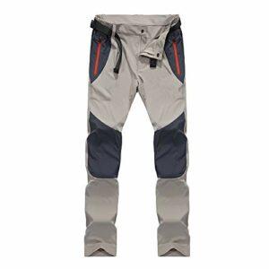Ddl Pantalon de randonnée Extensible Outdoor Hommes Printemps et en été Nouveau Pantalon à séchage Rapide Pantalons de Camping de randonnée imperméables à l'eau Respirantes,Gris,4XL