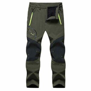 DFGRFN Chaud Hiver Pantalons en Plein air Hommes Molle-Étanche Surttrousers Randonnée Softshell Pantalons Camping Trekking Formation d'escalade Pantalon Masculin (Color : Vert, Taille : Large)