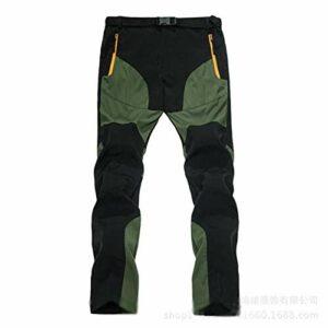 DFGRFN Hommes Pantalon de Marche en Plein air Mens Summer Randonnée sèche Pantalons de randonnée Respirant Pantalons de Trekking léger Pantalon d'escalade (Color : ArmyGreen, Taille : Petit)