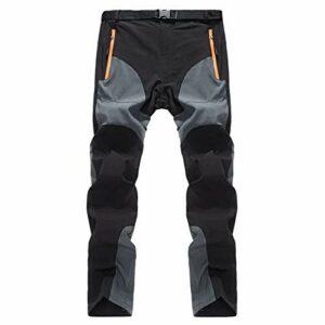 DFGRFN Hommes Pantalon de Marche en Plein air Mens Summer Randonnée sèche Pantalons de randonnée Respirant Pantalons de Trekking léger Pantalon d'escalade (Color : Gris foncé, Taille : XX-Large)