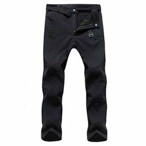 DFGRFN Pantalon de Marche Respirant Coupe-Vent, Pantalon extérieur étirable léger, Pantalon Softshell étanche, Pantalon de randonnée d'escalade de pêche (Color : Noir, Taille : Petit)