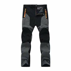 DFGRFN Pantalon d'escalade de randonnée en Plein air Hommes étanche Pantalon sèche Rapide Tactique Pantalon de Cargaison Militaire Tactique Pantalon de Marche Respirant (Color : A, Taille : Large)