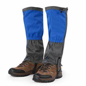 Dibiao Guêtres de jambe, guêtres de randonnée, hiver, chaud, imperméable, sports d'escalade, randonnée, guêtres pour chaussures pour escalade, chasse, ski, randonnée