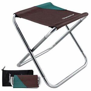 DUOUPA Tabouret Pliant Camping Chaise d'extérieur 30x26x30CM Alliage D'aluminium Portable Tabourets Fold Up Chaise Pliante en Plein air pour Camping Pêche, Randonnée(365g, 30x26x30cm)