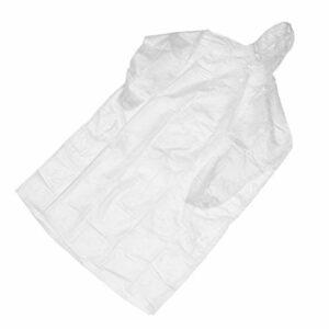 EXCEART Adulte Portable Imperméable Poncho De Pluie avec Hottes Et Manches en Plein Air Étanche Vêtements de Pluie Réutilisable Veste De Pluie pour Camping Randonnée Sport Blanc