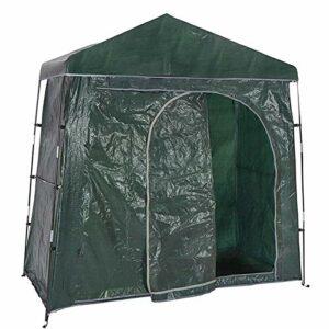 EZIZB Tente de vélo Remise de Stockage de vélo, Tente de vélo de Montagne Polyvalente extérieure, Toit à Double Couverture, imperméable et traité aux UV, 78 39 75in
