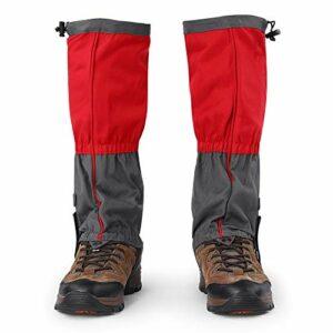 FAMKIT 1 paire de bottes imperméables pour sports d'extérieur, escalade, randonnée, guêtres pour chaussures Rouge