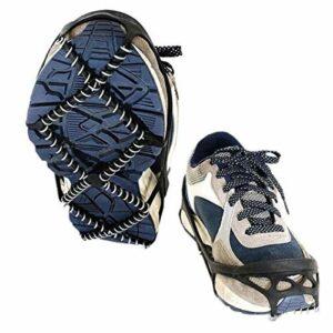fllyingu Crampon Antidérapant Chaussure sur Chaussure pour Marcher sur La Neige Et La Glace l'escalade, L'alpinisme, Le Trekking