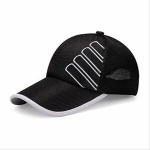 fssdd Running Hat Sport Cap Outdoor Parasol Respirant Randonnée Escalade CampingNoir