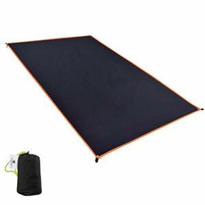 GEERTOP Tapis de tente/ Bâche/ Tarp/ Tapis de Sol 20D Imperméable Ultra Léger – 210 x 145 cm (250g) – 2 Personne Portable à poche flexible solide pour camping randonnée (XL)