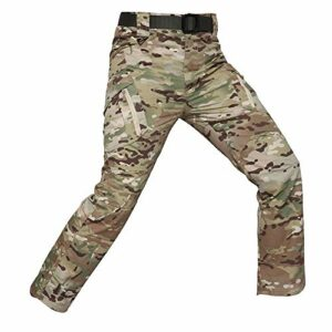 GFENG Homme Tactique Pantalon De Camouflage Militaire Multi-Poches Respirant Imperméable Armée Battle Trekking Chasse Randonnée Camping Treillis Cargo Travail Pantalon