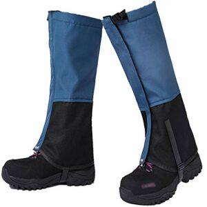Guêtres à la jambe imperméable, guêtres de démarrage réglables pour la randonnée, Ultra durable 600D Oxford Boot de neige Boot de la neige pour le camping, Escalade, Marche, Chasse, Raquette,Bleu,M