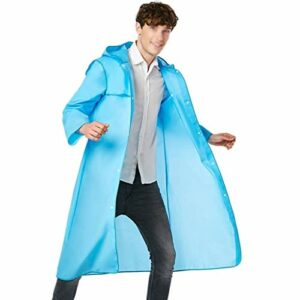 GY-Mortar Adulte Transparent Raincoat Femme d'extérieur Escalade Alpinisme Waterproof Simple Hommes Pêche Cape (Couleur: Bleu) (Color : Blue, Size : XL – Number)