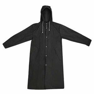 hgkl Poncho Pluie Noire Adulte imperméable Pure Noir de Plein air randonnée Poncho Vert imperméable (Size : Large)
