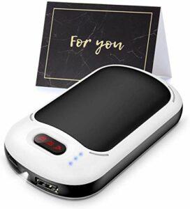 HUIQ® Chauffe-Mains Portable réutilisable 7800mAh Chauffe-Mains Batterie Externe Rechargeable et 3 Niveaux de Chaleur Chauffage Double Face pour Camping pêche Ski Escalade Cadeau d'hiver idéal