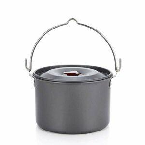 JJSFJH Antiadhésive, léger et résistant extérieur Ustensiles Pot & Set Pan Mess Kit Voyage Randonnée Camping en Tissu Case