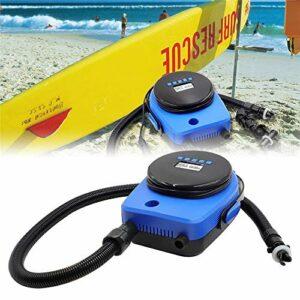 Kacsoo Pompe à air électrique pour Jouets de Piscine gonflables, Pompe à air Portable Quick-Fil avec 6 Buses, Pompes de gonflage parfaites pour Le Camping en Plein air, Lits de Matelas à air.