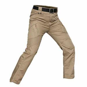 Khcr-CL Pantalons imperméables Hommes Tactique Respirant Coquille Souple Résistant au Vent Alpinisme en Plein air Automne Hiver Chaud Militaire Camouflage Randonnée Camping,F,M