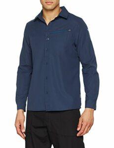 Lafuma – Shield Shirt LS – Chemise Manches Longues – Homme – Randonnée, Trekking, Lifestyle – Bleu Marine
