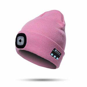 LED Light Beanie Hat Wireless Bluetooth USB Charge Tricoté Musical Casque Casquette pour Ski Randonnée Camping Cyclisme Unisexe Noël Tech Gag Cadeau