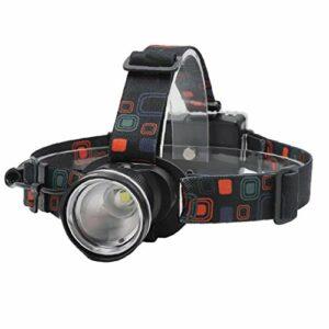 Led Projecteur Zoomables Phare Lampe De Poche 3 Modes Avec Lumière Blanche Étanche Lampe Frontale Pour La Pêche D'alimentation D'escalade Camping Randonnée (noir)
