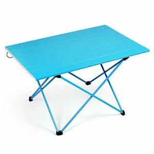 LHJJ Table de Camping Portable avec Sac de Transport, Table de Camping Pliante en Aluminium Ultra-légère pour Les Pique-niques, Camping, Plage, Bateau, Cuisine, Barbecue, Usage Domestique