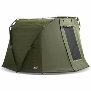 Lucx® Caracal Tente 1 à 2 personnes, 295 x 290 x 165 cm, colonne d'eau 10 000 mm, pour la pêche, le bivouac ou le camping
