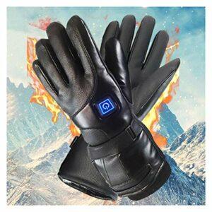 LYB Gants de course unisexes pour homme et femme – Gants chauffants électriques chauffants alimentés par batterie – Gants chauffants pour escalade et ski – Couleur : noir