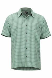 Marmot Eldridge Short Sleeve T-Shirt Manche Courte, Chemise de randonnée, avec Protection UV, Respirant Homme, Pond Green, FR : M (Taille Fabricant : M)