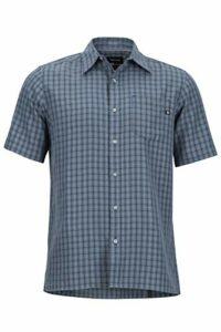 Marmot Eldridge Short Sleeve T-Shirt Manche Courte, Chemise de randonnée, avec Protection UV, Respirant Homme, Steel Onyx, FR : L (Taille Fabricant : L)