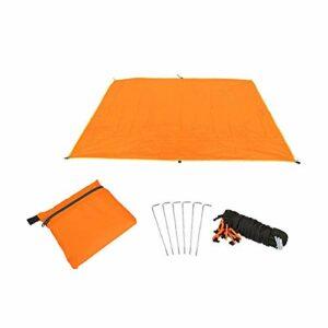 Moonvvin Tapis de Camping Multifonction ultraléger imperméable pour extérieur Tente Bâche de Sol Oxford Couverture pour Camping randonnée Pique-Nique (Orange)